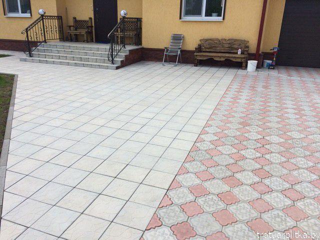 Соединение площадок с разных плиток
